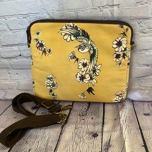 Lucky Brand cream floral bird design laptop Carrie